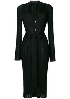 Emilio Pucci pleated midi cardi-coat - Black
