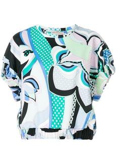 Emilio Pucci printed elasticated waist blouse - Unavailable