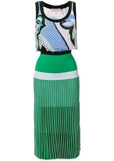 Emilio Pucci printed pleated midi dress - Green