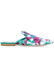 Emilio Pucci printed point-toe mules - Multicolour
