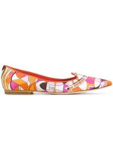 Emilio Pucci printed point-toe slippers - Multicolour
