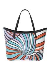 Emilio Pucci Printed Saffiano Large Tote Bag