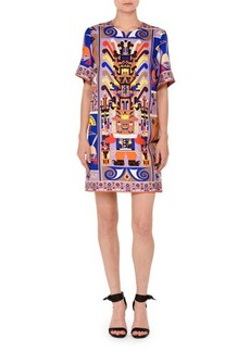 Emilio Pucci Printed Short-Sleeve Shift Dress
