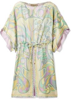 Emilio Pucci Printed silk-twill mini dress