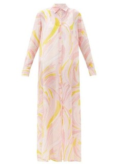 Emilio Pucci Pucci printed cotton-blend organdy shirt dress