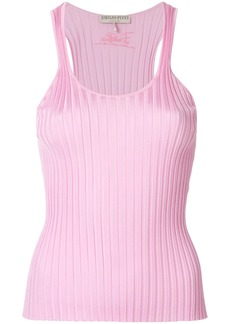Emilio Pucci ribbed-knit tank top - Pink & Purple