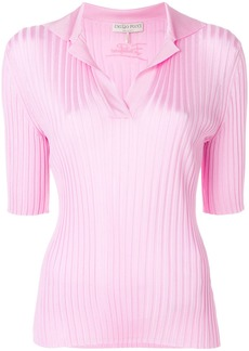 Emilio Pucci ribbed polo shirt - Pink & Purple