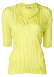Emilio Pucci ribbed polo shirt - Yellow & Orange