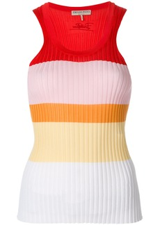 Emilio Pucci ripped sleeveless top - Multicolour
