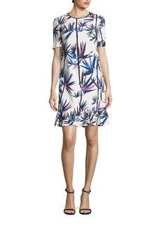 Emilio Pucci Ruffle Hem Cady Dress