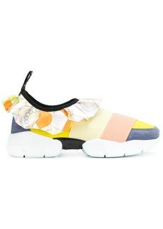 Emilio Pucci ruffle strap sneakers - Yellow & Orange