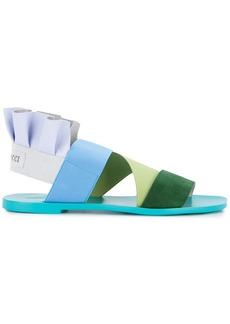 Emilio Pucci ruffle strappy sandals - Green