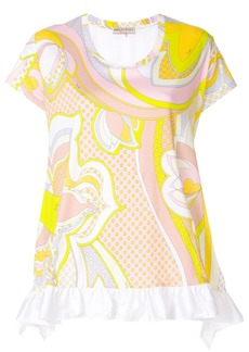 Emilio Pucci ruffled-hem printed blouse - Multicolour
