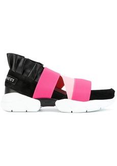 Emilio Pucci ruffled slip-on sneakers - Multicolour