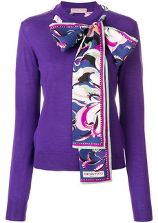 Emilio Pucci scarf-detailed sweater - Pink & Purple