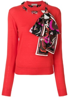Emilio Pucci scarf-detailed sweater - Red