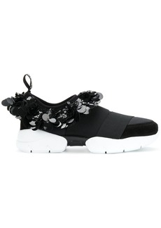 Emilio Pucci sequin embellished slip-on sneakers - Black