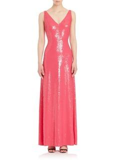 Emilio Pucci Sequin Silk Gown
