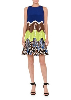 Emilio Pucci Sequined Wave Sleeveless Dress