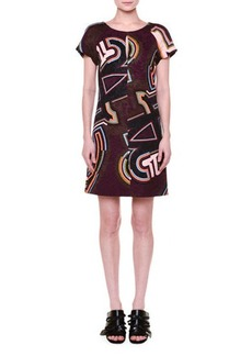 Emilio Pucci Short-Sleeve Round-Neck Shift Dress