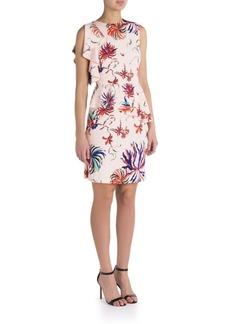 Emilio Pucci Silk-Blend Ruffled Jersey Dress