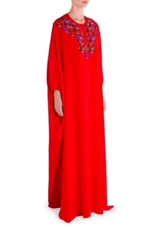 Emilio Pucci Silk Embellished Caftan