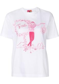 Emilio Pucci sketch print T-shirt - White