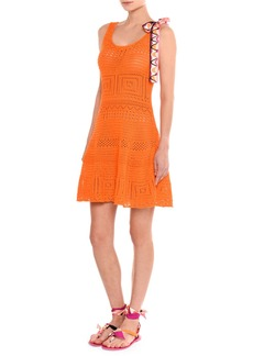 Emilio Pucci Sleeveless Crochet Fit & Flare Dress