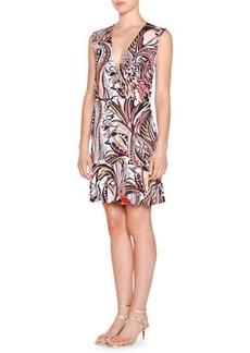 Emilio Pucci Sleeveless Faux-Wrap Printed Dress