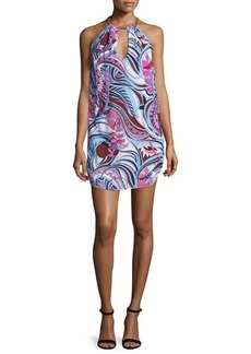 Emilio Pucci Sleeveless Halter-Neck Printed Dress