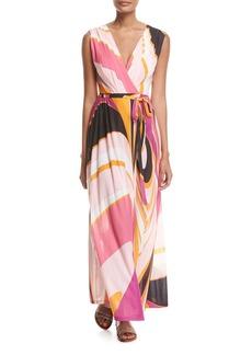 Emilio Pucci Sleeveless Libellula Coverup Maxi Dress