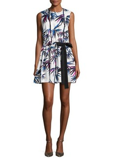 Emilio Pucci Sleeveless Ruffled Drawstring-Bow Dress