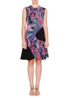 Emilio Pucci Sleeveless Two-Tone Multi-Print Dress