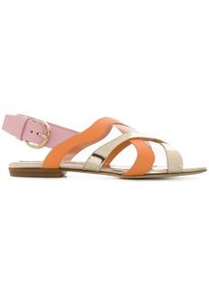 Emilio Pucci strappy flat sandals - Metallic