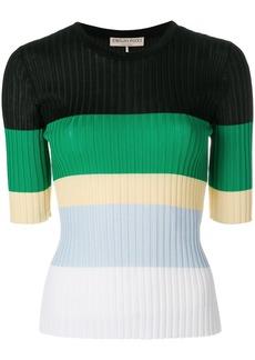 Emilio Pucci striped ribbed jumper - Multicolour