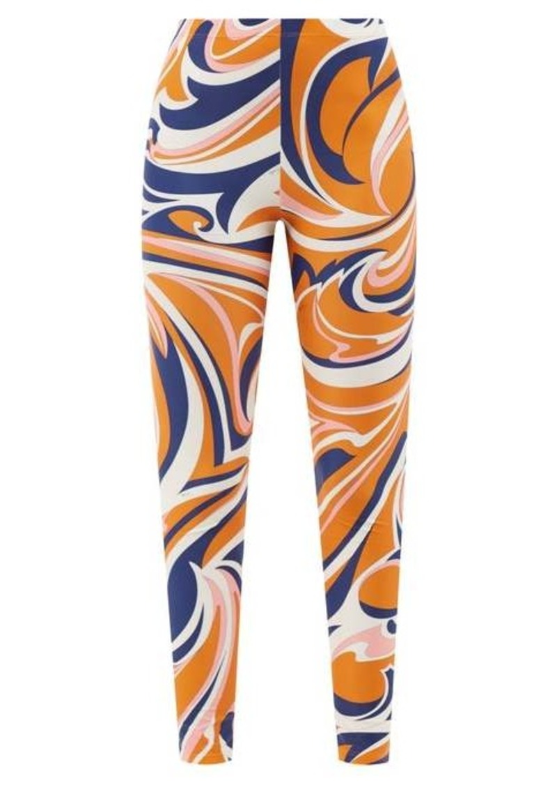 Emilio Pucci Vortici-print stretch-ECONYL leggings
