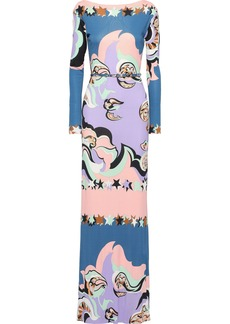 Emilio Pucci Woman Belted Printed Jersey Gown Lavender