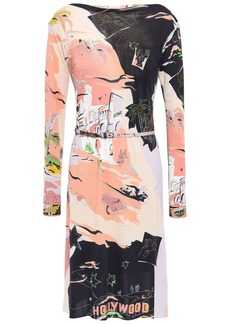 Emilio Pucci Woman Belted Printed Stretch-jersey Dress Black
