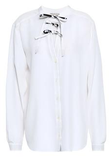 Emilio Pucci Woman Bow-detailed Silk Crepe De Chine Blouse White