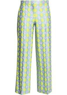 Emilio Pucci Woman Brocade Straight-leg Pants Pastel Yellow