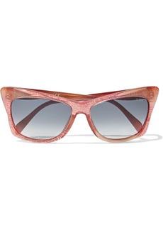 Emilio Pucci Woman Cat-eye Printed Acetate Sunglasses Bubblegum