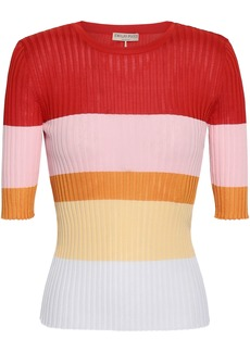 Emilio Pucci Woman Color-block Ribbed-knit Top Red