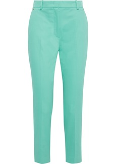 Emilio Pucci Woman Cropped Cotton-blend Twill Slim-leg Pants Mint