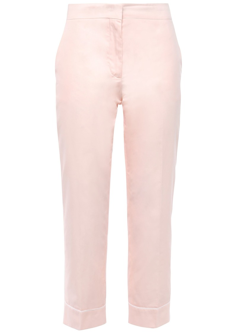 Emilio Pucci Woman Cropped Cotton-poplin Slim-leg Pants Pastel Pink
