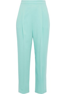 Emilio Pucci Woman Cropped Pleated Crepe Tapered Pants Mint