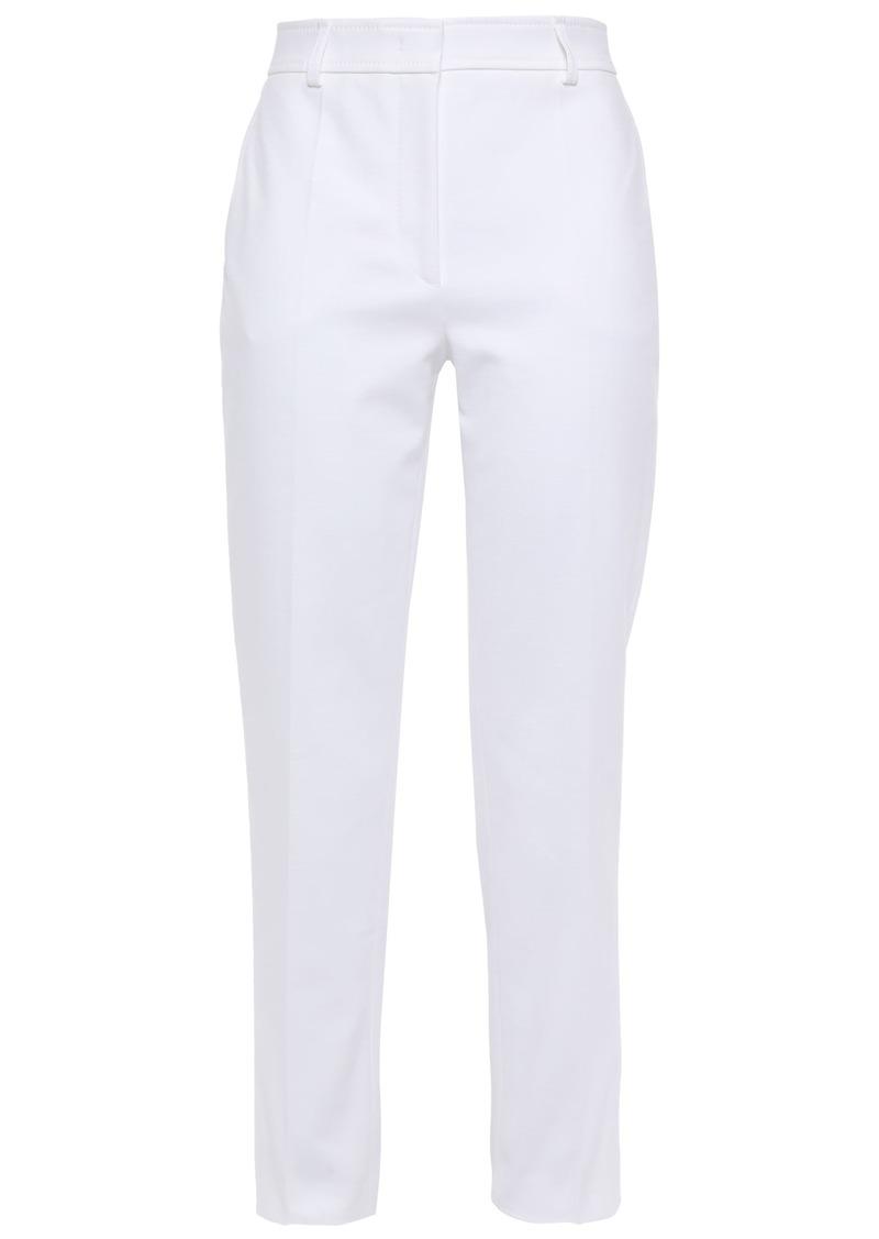 Emilio Pucci Woman Cropped Stretch-cotton Slim-leg Pants White