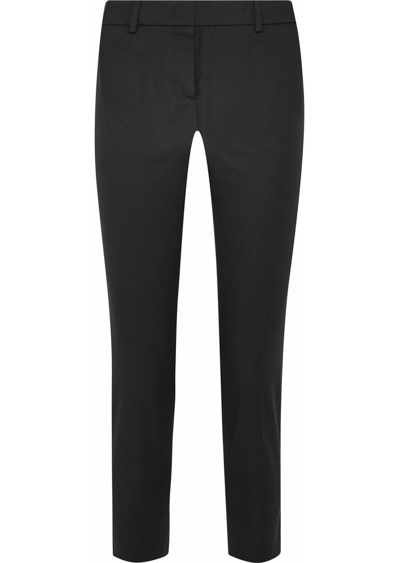 Emilio Pucci Woman Stretch-cotton Twill Slim-leg Pants Black