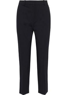 Emilio Pucci Woman Cropped Stretch-wool Twill Tapered Pants Black