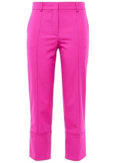 Emilio Pucci Woman Cropped Wool-blend Twill Slim-leg Pants Bright Pink