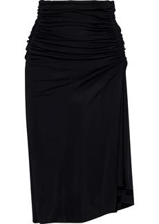 Emilio Pucci Woman Draped Ruched Jersey Skirt Black